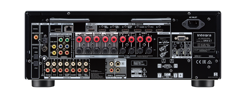 DRX-2.1 Integra Atmos Audio /& Video Component Receiver Black